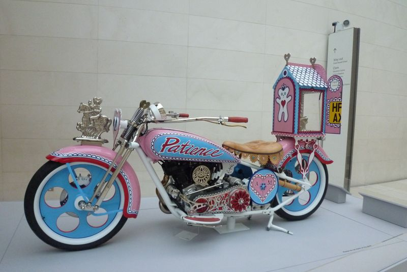 Grayson Perry's Motorbike. Credit: régine debatty